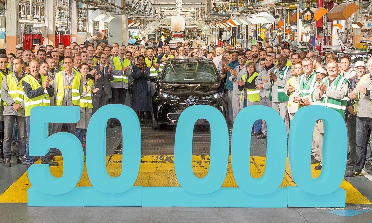 Renault Zoe nummer 50.000 er produsert