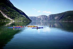 Kajakkpadling i Eidfjord