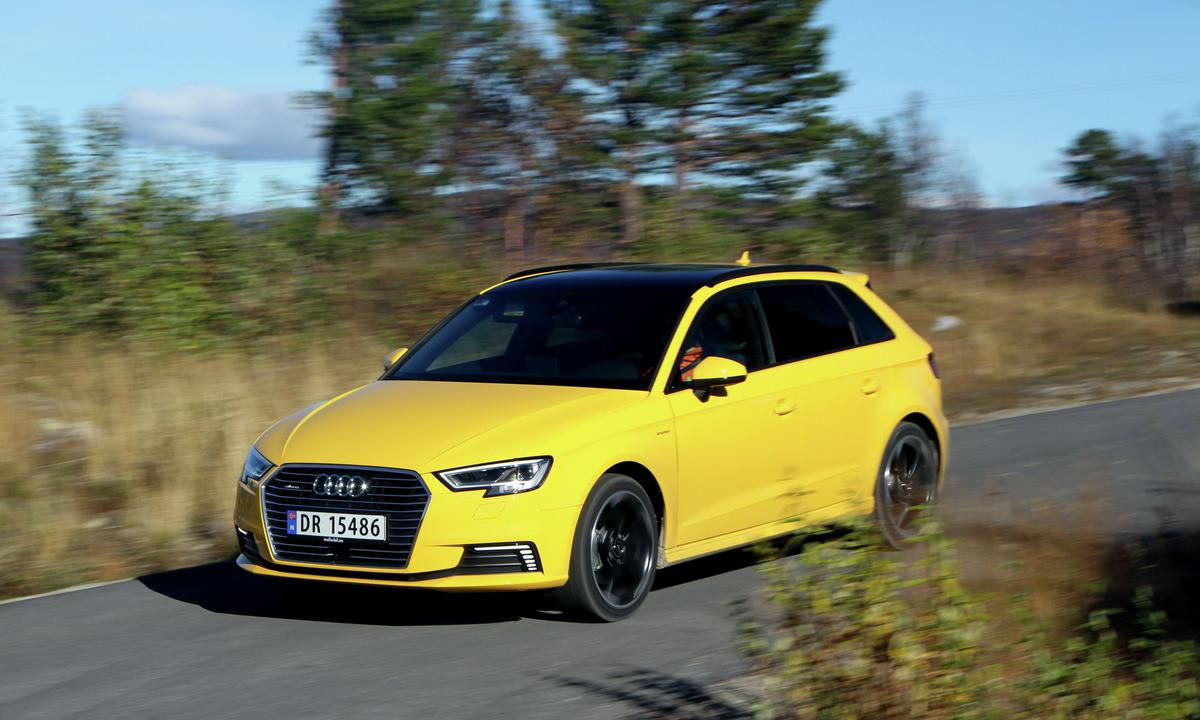 Test av Audi A3 e-tron: Så mye brukte den på hytteturen