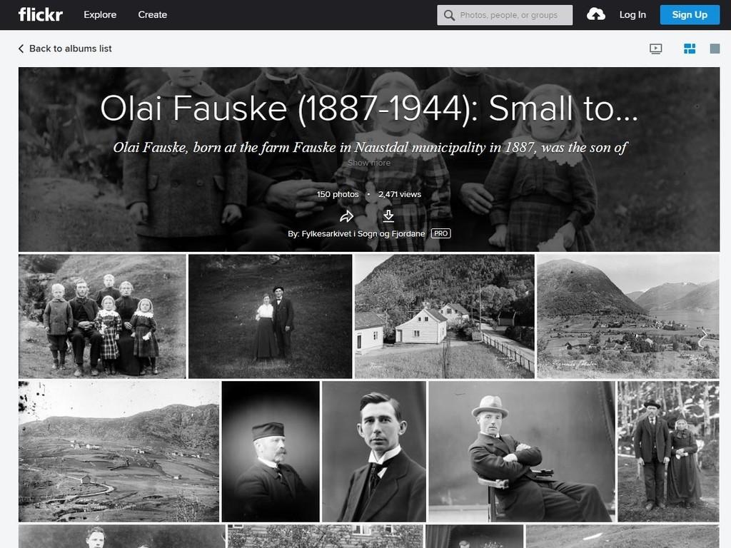 Skjermbilete av Fauske-album på Flickr.com
