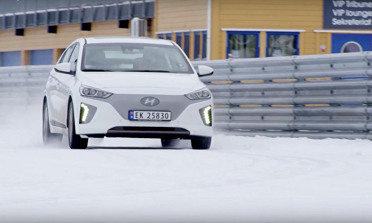 Test av Hyundai IONIQ: Stor forskjell i vinterkulda