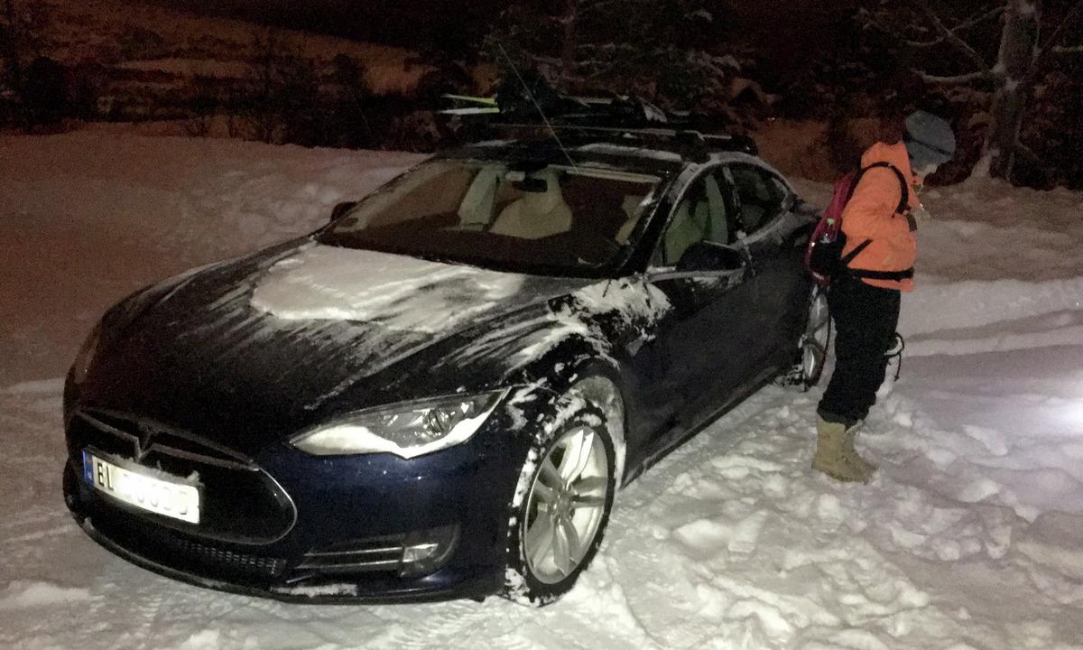 Statens vegvesen fastslår: Helt greit med elbil i kolonnekjøring