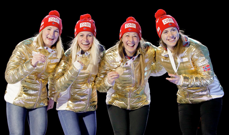skiskyting AF Gruppen stafett VM i Holmenkollen