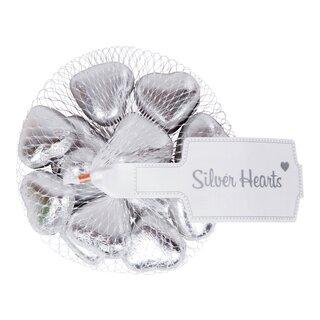 choklad, godis, hjärtan, silver, hasselnötskräm