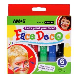 barn, färg, ansikte, maskerad, halloween, smink