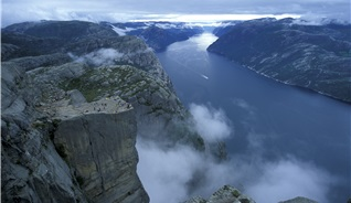 Hold a business meeting in Stavanger in Fjord Norway, and experience the awe-inspiring Preikestolen (the Pulpit Rock) and the same time - Photo: Casper Tybjerg - Visitnorway.com