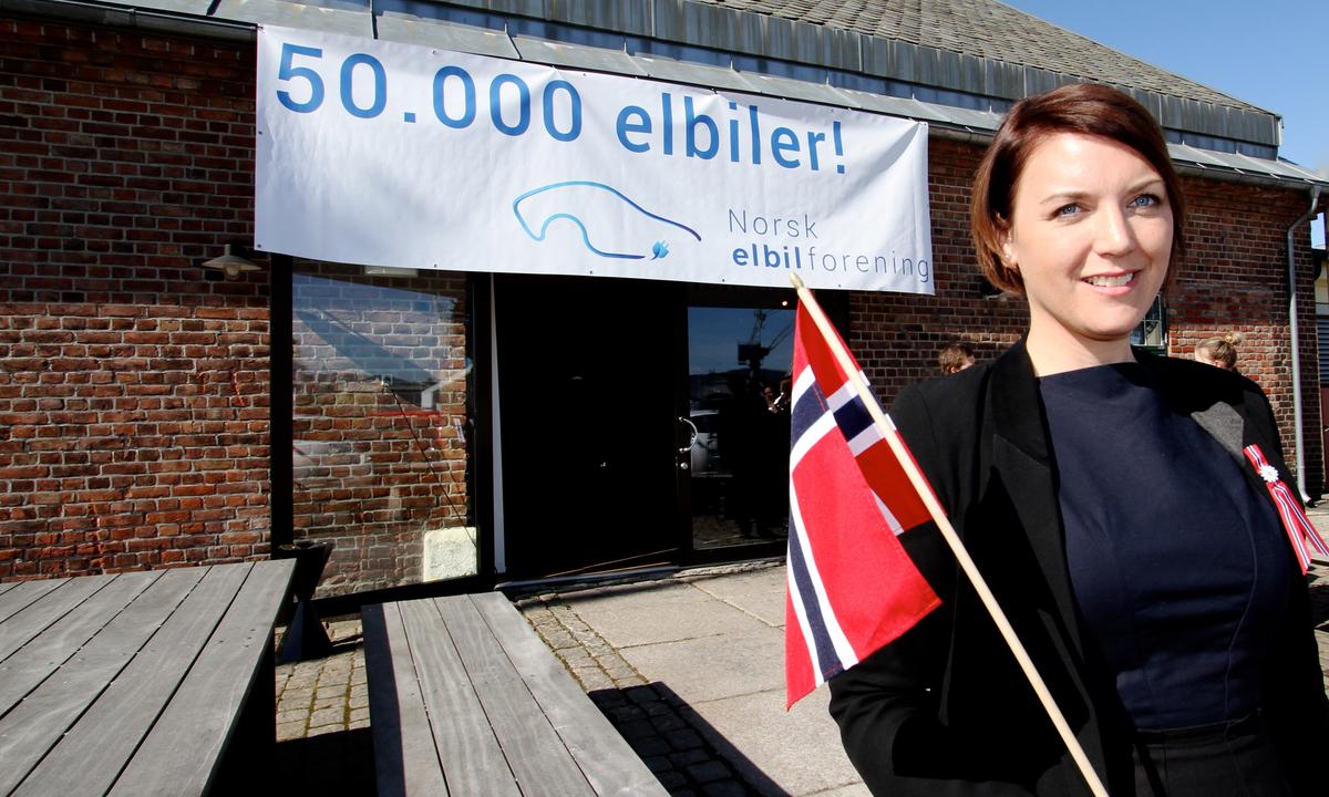 50.000 elbiler på norske veier