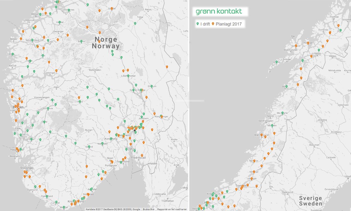 Skal teppelegge Norge med hurtigladere