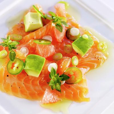 Salmon carpaccio image