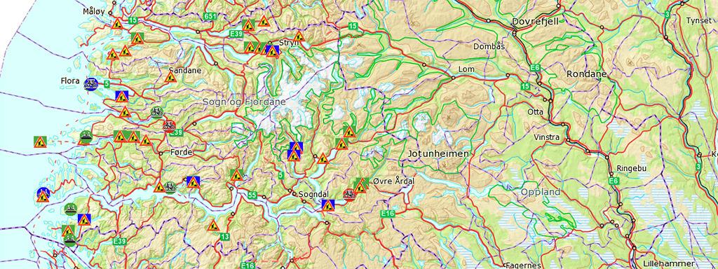 Kart frå prosjekt på fylkesvegnettet. Foto: Fylkesatlas