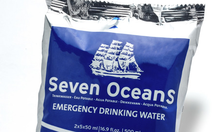 Seven OceanS® -emergency drinking water for lifeboats and liferafts
