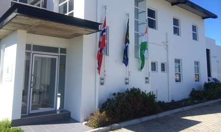 The entrance to the office at Capricorn Business and Technology Park