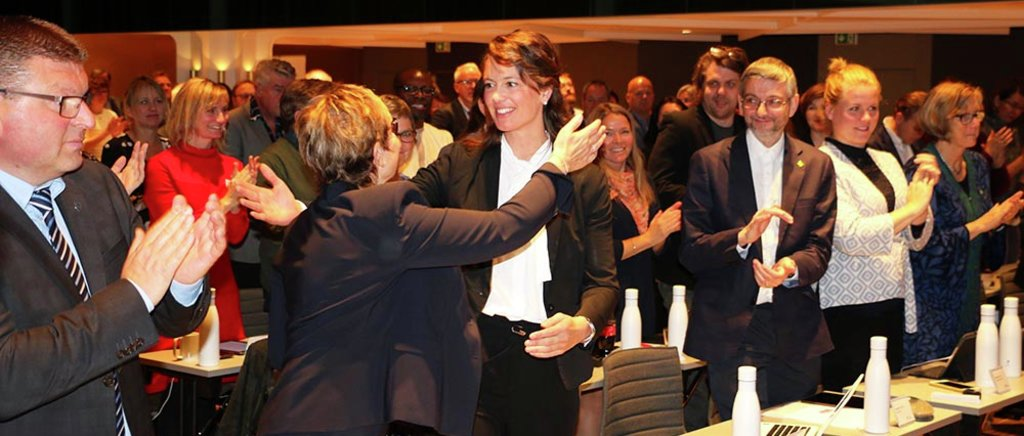 Foto frå då Natalia Golis vart valt til fylkesvaraordførar for Vestland.
