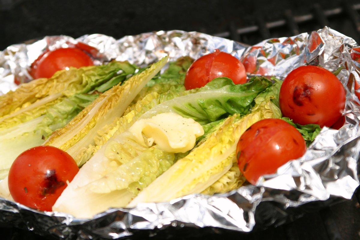 Alt kan grilles, også salat!