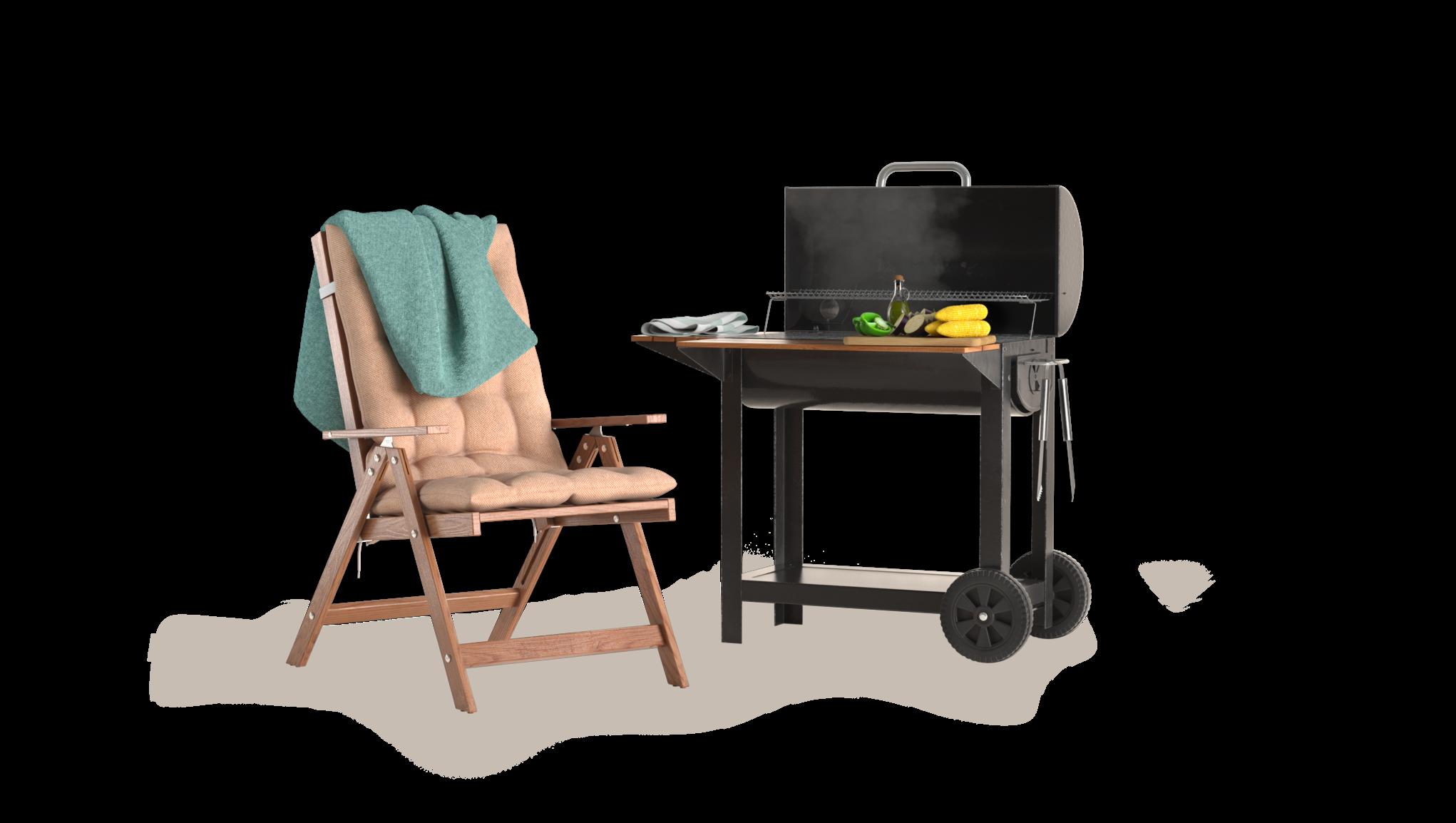 Utemöbler och grill