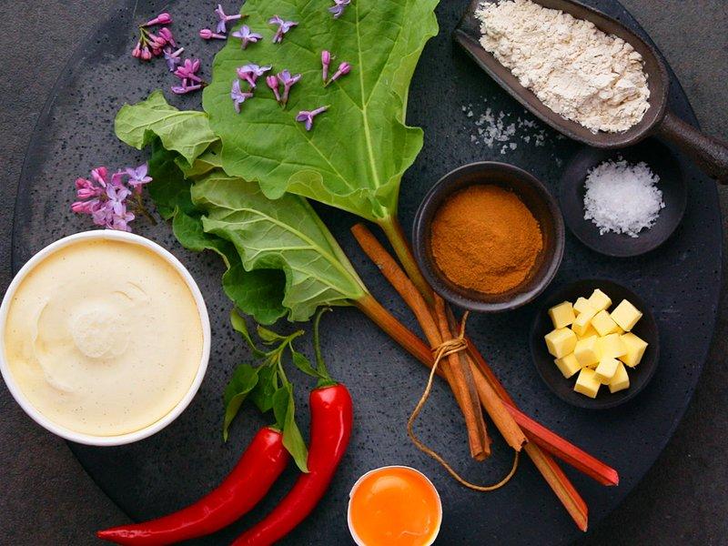 Rabarbraterte ingredienser og oppskrift