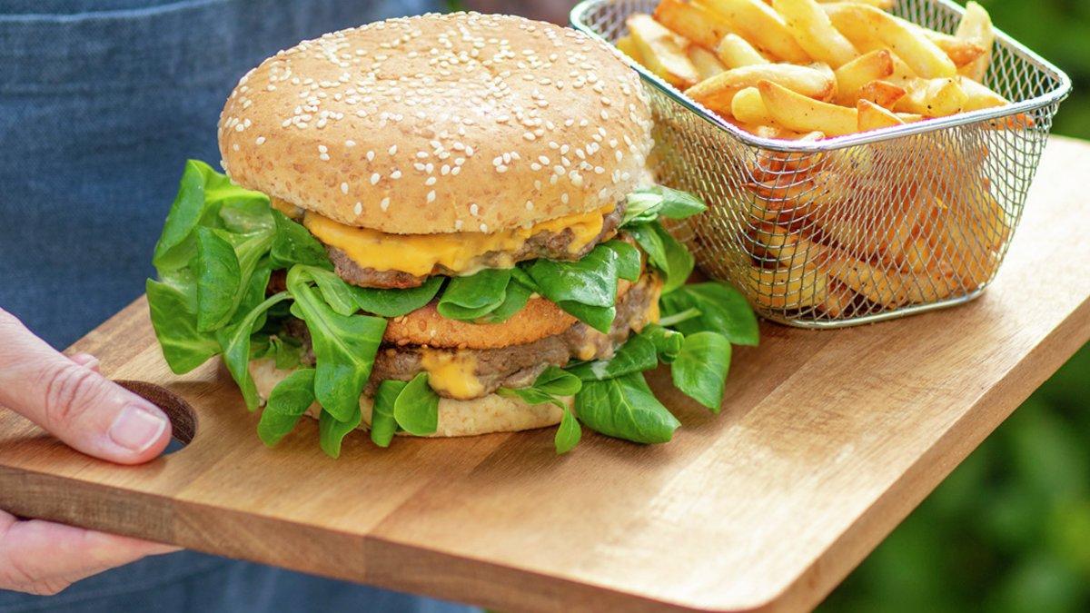Oppskrift på hamburger