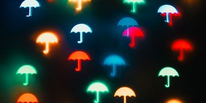 umbrella pictures on black surface