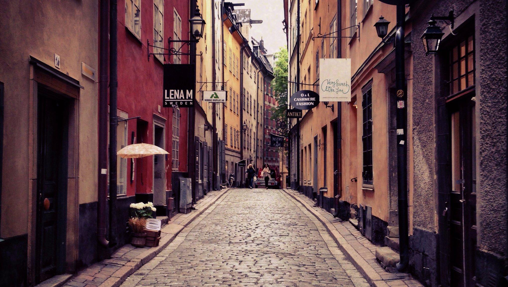Stockholm oldtown street view photo