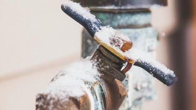 Frusen vattenledning