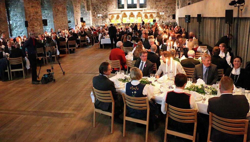Oversiktsbilde frå Håkonhallen 15. oktober 2019, frå den høgtidelege markeringa av Vestland fylkeskommune.