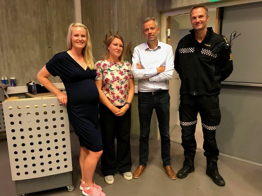 Foto av Kristin Rundsveen, Yrla Klein, Anders Magne Bruvoll og Vidar Stavik.
