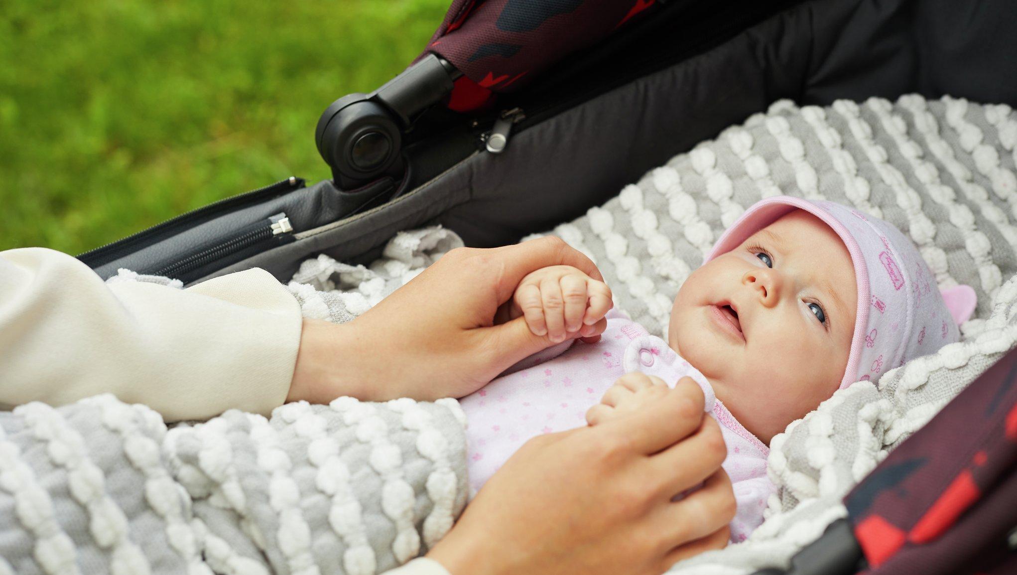 Bebis i barnvagn