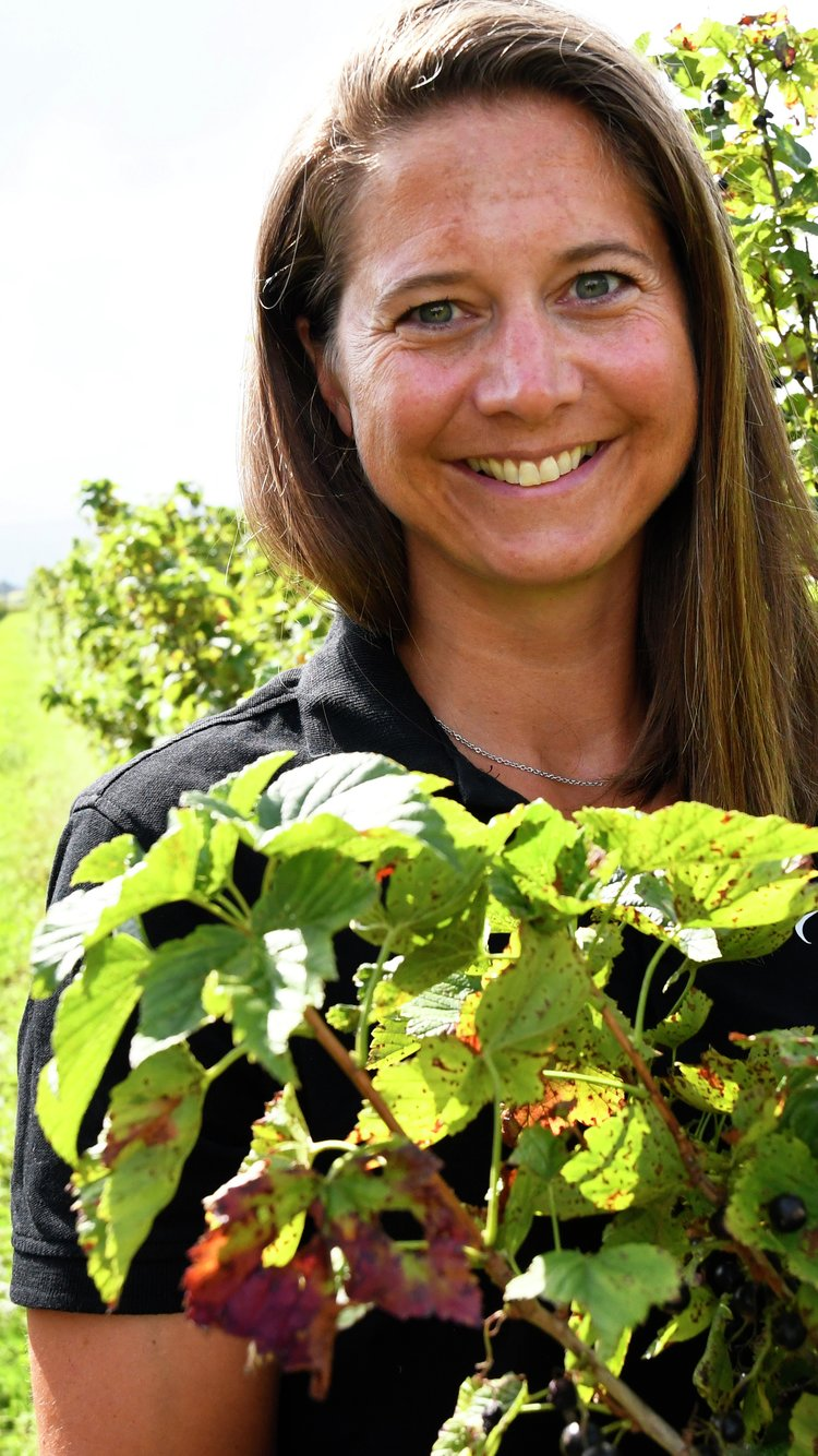 Cecilie Bjørnebye Jensen fra Røyse bærepresseri