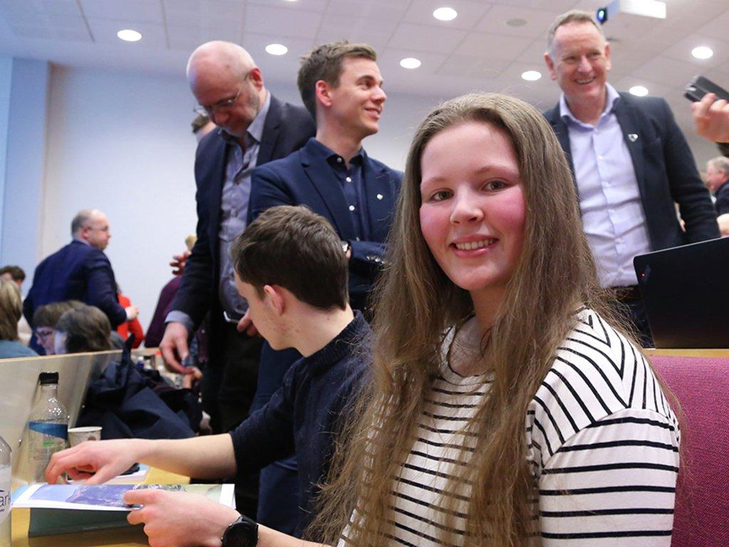 Foto av Kamilla Rivedal, leiar i ungdomspolitisk utval.