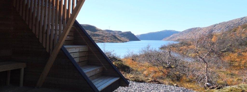Utsikt frå dagsturhytta i Høyanger