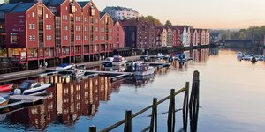 view from Trondheim, Norway.
