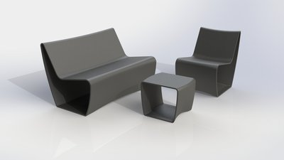 Møbler laget av støtfangere
