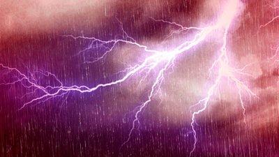 heavy lightning and thunder