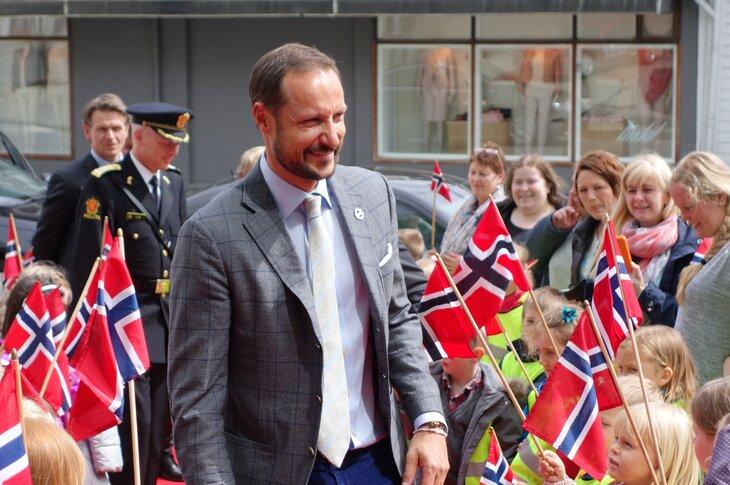 3. november kjem Kronprinsen til Rogaland. Her frå eit tidlegare besøk i Sandnes