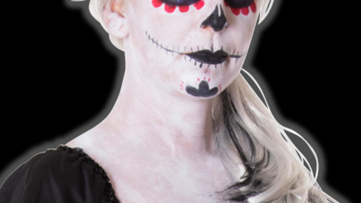 Steg for steg - sugar skull makeup