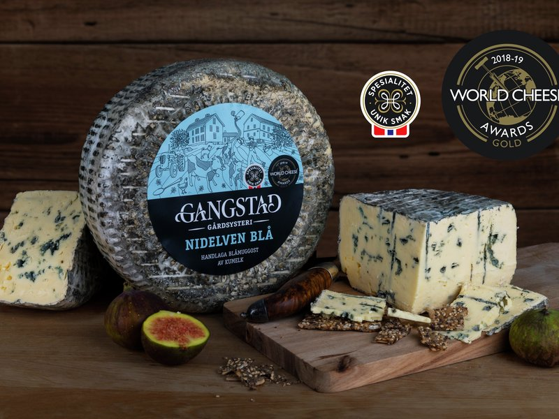 Nidelven Blå fra Gangstad gårdsysteri er en av Spesialitet-ostene som er med i kampanjen hos Meny. Foto: Gangstad