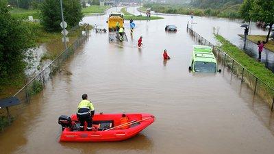 Oversvømmelse på vei
