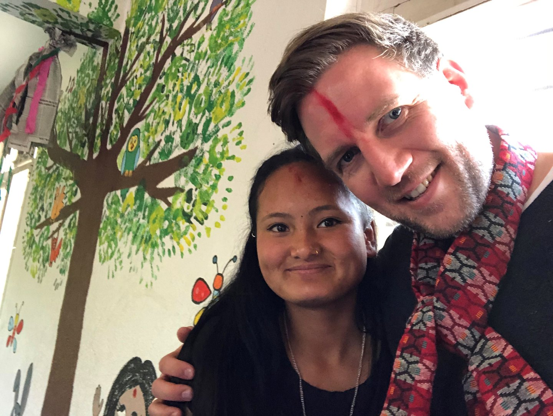 Marius Leiddal i Nepal