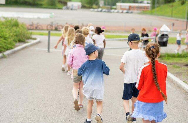 Illustrasjonsbilder fra Brandbu barneskole sommer 2021