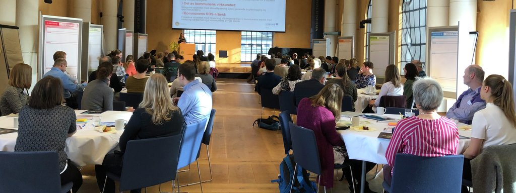 Foto frå konferansen Klimathon i Bergen i mars 2019.
