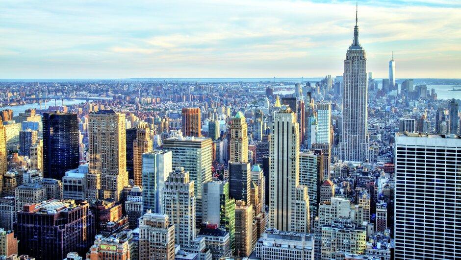 Skyscrapers in big city.