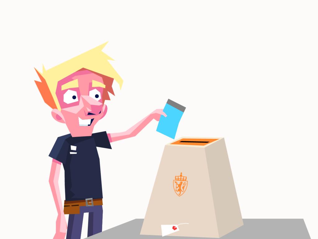 Illustrasjon til valkampanje for fylkestingsvalet 2019