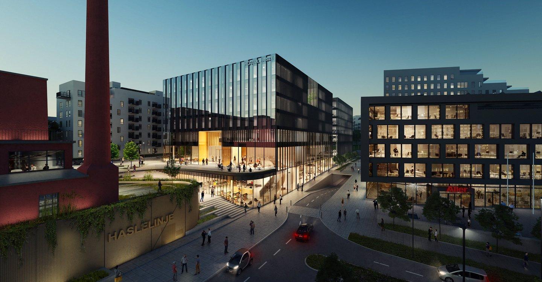 Nytt hotell og kontorbygg på Haslelinje