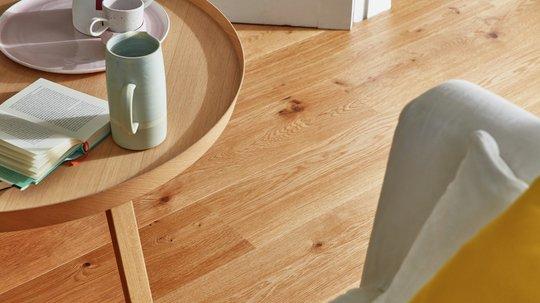 Den autentiske looken til Eik Vivo plank er en perfekt match for en varm og avslappende atmosfære.