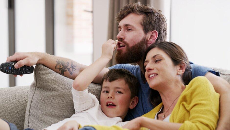 familj i soffa