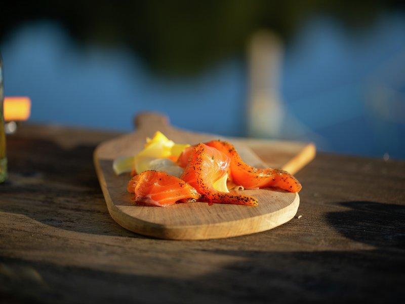 Smakslandet 2019 Svanøy porsmarinert laks med sylta rotgrønnsaker oppskrift