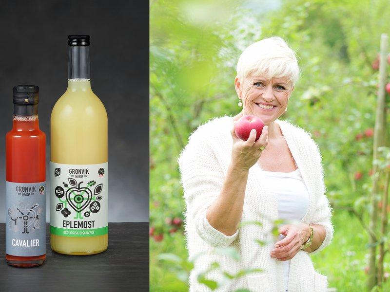 Elisabeth Grønvik og epler eplemost cavalier