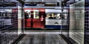 metro entering the station
