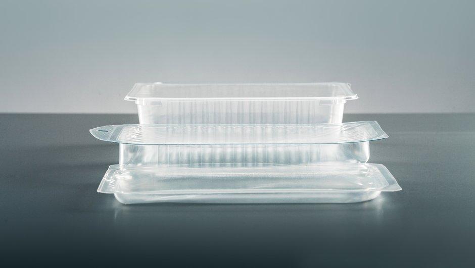 transparent plastic packages