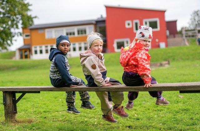 Lek og moro i Fagerlund barnehage høsten 2019